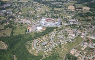 Vue aérienne la Grosille