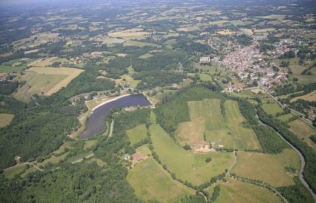Vue aérienne plan d'eau